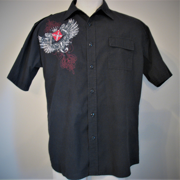 Beyond The Limit Other - BEYOND THE LIMIT Embroidered Short Sleeve Shirt XL